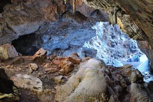 Ледяная пещера Снежной королевы