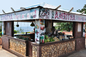 Свежий сок в кафе Амритха