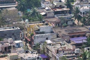 Детальный вид зданий Вишакхапатнама