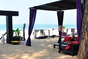H2O Агонда: интерьер пляжного ресторана