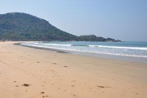 Южная оконечность пляжа Агонда