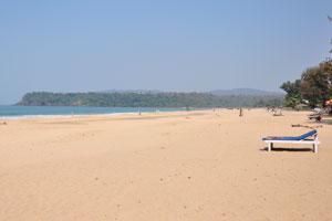 Уникальный мыс в северной части пляжа Агонда