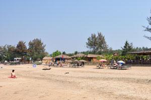 Пляж Агонда в его южной части
