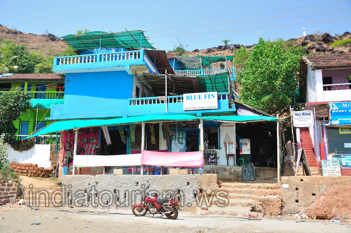 Blue Fin Guest House Arambol Beach Goa India