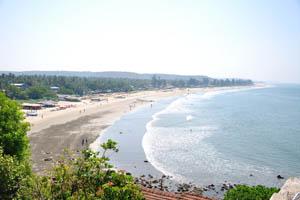 Вид на пляж Арамболь с утёса