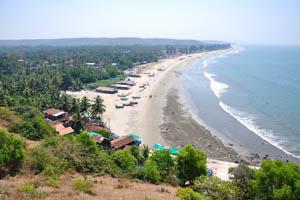 Мы провели нашу первую неделю в Индии (2013) на пляже Арамболь