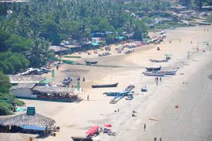Вид на пляж Арамболь с высоты птичьего полёта