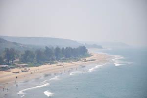 Вид на юг с вершины утёса
