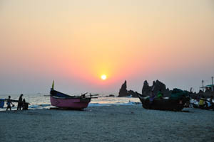 Пляж Арамболь на закате