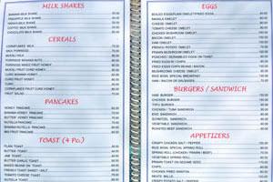 Меню Рисовой Чаши, стр. 2 - молочные коктейли, каши, блины, закуски