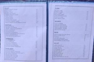 Меню Ом Шанкар, стр. 3 - тосты, бутерброды, каши, блины, ласси, коктейли