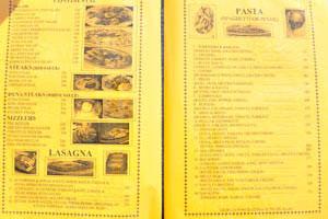 Меню ресторана Кокосовая Гостиница, стр. 6 - салаты, стейки, сиззлеры, макароны