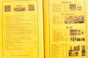 Меню ресторана Кокосовая Гостиница, стр. 7 - пицца, десерты, мороженое