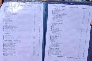 Меню Ом Шанкар, стр. 6 - индийская еда, чопси, жареный рис и лапша