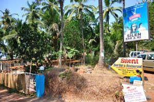 Пивной бар и ресторан Тихий, придорожная реклама