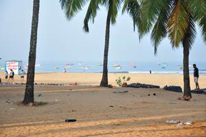 Стойка по водному спорту на пляже Бага