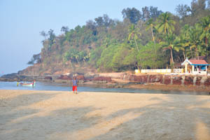 Река Бага впадает в море в этом месте