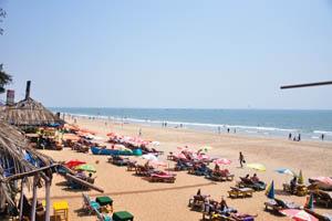 Южная часть пляжа, вид с будки спасателей