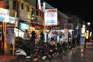 Переулок Тито поздним вечером