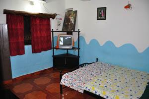 Номер с широкой кроватью и телевизором