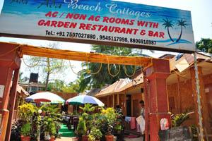 Пляжные коттеджи Ада, номера с кондиционером и без, с садовым рестораном и баром