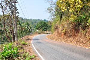 Дорога рядом с храмом Шри Лакшминарайямграмдев