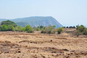 Большой каменистый луг на вершине форта