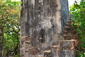 Лестница на самый верх форта