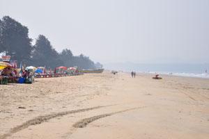 Пляж Кавелоссим: взгляд на юг