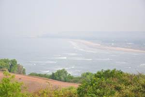 Место, где река Чапора впадает в Аравийское море