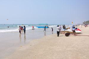 Пляж Колва: взгляд на север