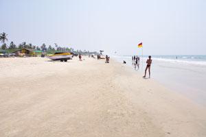 Пляж Колва: взгляд на юг