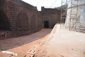Вход в форт, вид изнутри