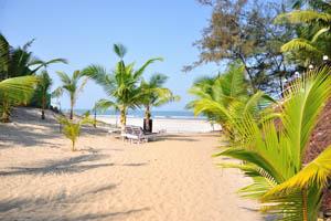 Вид на море от пляжного дома отдыха Мандрем