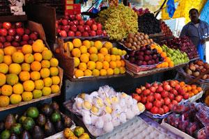 Новый рынок: личи, груши, гранаты, кремовые яблоки, папайя, клубника