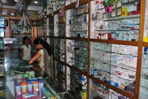 Городская площадь Маргао: внутри аптеки