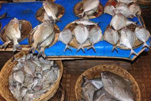 Рыбный рынок: небольшая рыба треугольной формы