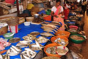 Рыбный рынок полон рыбы