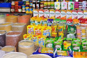 Рынок возле автовокзала Кадамба: зерно