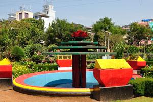 Городской сад Маргао: фонтан без воды