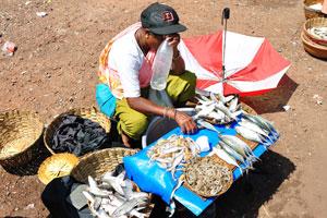Старый рыбный рынок: продавщица рыбы