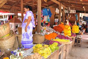 Новый рынок: чику, бананы и цветы