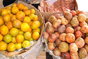 Новый рынок: апельсины и кремовые яблоки