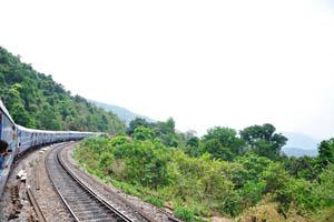 Наш поезд из Хайдерабада в Гоа