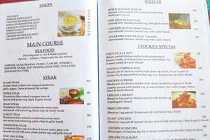 Меню бара и ресторана Пресли: супы и стейки