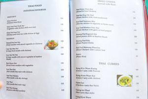 Меню бара и ресторана Пресли: тайская еда и жареные блюда