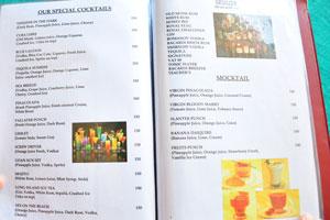 Меню бара и ресторана Пресли: коктейли и моктейли