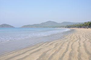 Пляж Палолем: вид на север