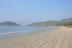 Гладкая поверхность песчаного пляжа