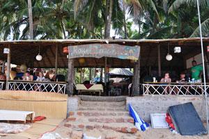 Пляжные хижины и ресторан Королевское прикосновение